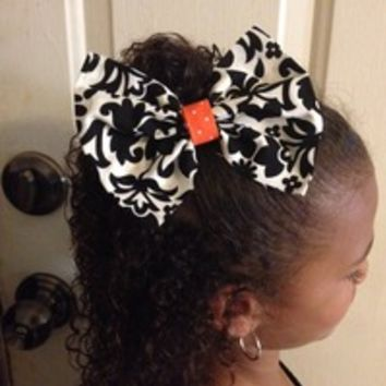 Halloween Hair Bow with Ponytail Holder from Nicole Ray