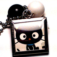Sanrio Chococat Beaded Locket Necklace