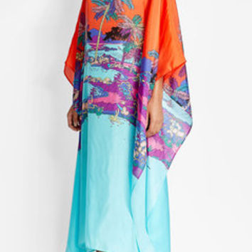 Printed Silk Caftan Dress - Emilio Pucci | WOMEN | US STYLEBOP.com