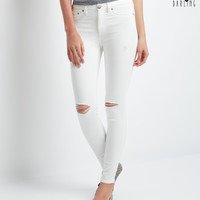 Aeropostale  Tokyo Darling High-Waisted White Wash Destroyed Jegging