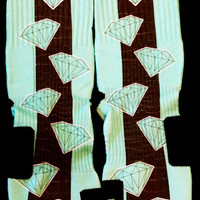 Tiffany Diamond 2nd Edition Inspired Custom Nike Elite Socks