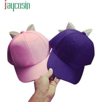 DCCKWJ7 2017 New Design Cotton Fashion Solid Hats Snapback Sun Plain Hat Bowknot Patchwork Hat Adjustable Cap Baseball Unisex  17May 25