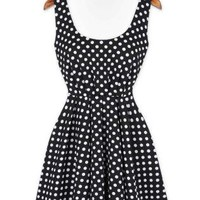Polka Dot Halter Chiffon Celebrity Dress