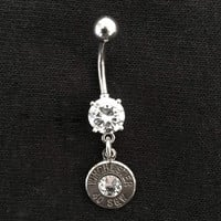 Luckless LLC | Bullet Dangle Belly Button Ring