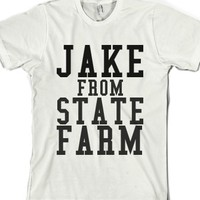 Jake From State Farm-Unisex White T-Shirt