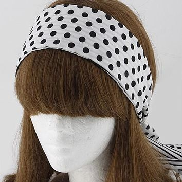 Polka Dot and Striped Tie Back Headband