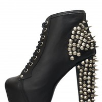 Jeffrey Campbell Spike Lita platform booties.