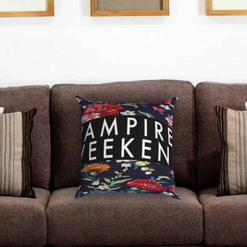 Vampire Weekend Flower Pillow Cover , Custom Zippered Pillow Case One Side Two Sides