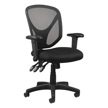Realspace® MFTC 200 Multifunction Ergonomic Super Task Chair, Black Item # 493876