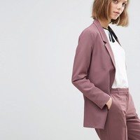 ASOS Slim Tailored Jacket In Crepe at asos.com
