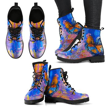 Chicken Painting Boots