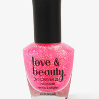 Bubble Gum Glitter Nail Polish