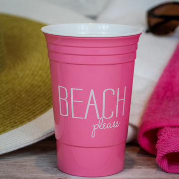 Beach Please Cup in Pink