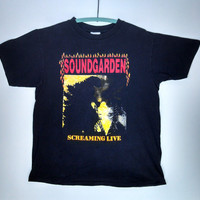 1987 Screaming Live Soundgarden Shirt