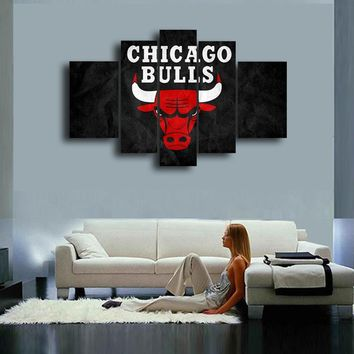 Chicago Bulls Hand Painted Wall Art Canvas Decoration Abstract Oil Painting Living Room painting Modern Home Decor Wall Picture