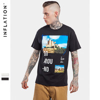 New Collection Skateboard  Printed Mens White T shirts Urban Streetwear T Shirts