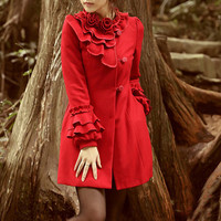 charm flower autumn winter coat jacket dress can by ideastyleart