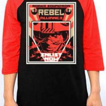 Star Wars Baseball Jersey Shirt - Enlist Now
