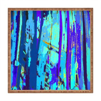 Rosie Brown Blue Palms 2 Square Tray
