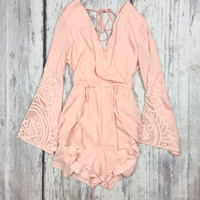 BOHO FLOW ROMPER IN BLUSH