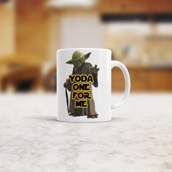 Yoda one for me mug Funny mug. Coffee Mug. Yoda mug