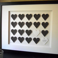First Anniversary Personalized 3D Paper Heart by DomesticNotions