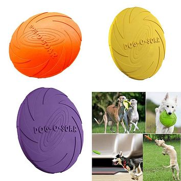 Soft Eco-friendly Natural Rubber Pet Dog Toy Frisbee Flying Disc Training Toy 22cm/18cm/15cm