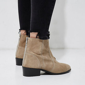 Grey suede ankle boots - Boots - Shoes & Boots - women