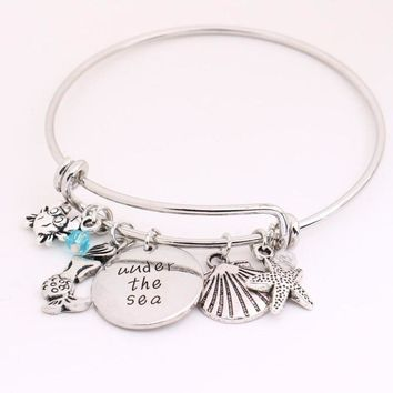 """Under the sea""Little Mermaid Bangle"