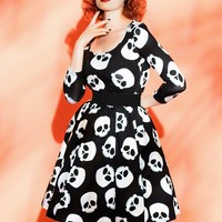 Pin Up Skull Dress