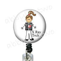 Retractable ID Badge Holder Badgereel Name Badge  X Ray Tech
