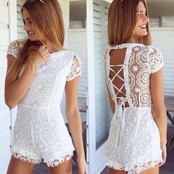CUTE LACE FASHION ROMPER PLAYSUIT JUMPSUIT