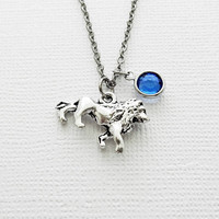 Lion Necklace, Leo Zodiac Sign, King Of Jungle, Gift For A Man, Best Friend Birthday Gift, Best Friend, Swarovski Channel Crystal Birthstone