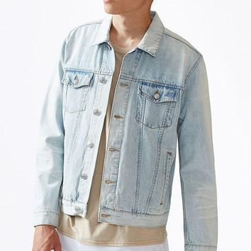 CREYON PacSun Light Wash Denim Jacket