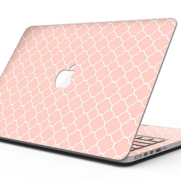 The Mint Pink Morocan Pattern - MacBook Pro with Retina Display Full-Coverage Skin Kit