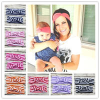 New Baby and Mom Topknot Headwrap Set for Hair Accessories Soft Cotton Baby and Mommy Headband Ears Bow Hairband 1 SET = 1929705028