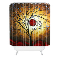 Madart Inc. Blue Blossoms Shower Curtain
