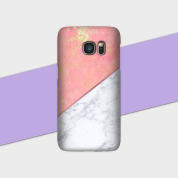 Pink White Marble