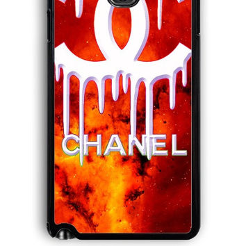 Samsung Galaxy Note 3 Case - Rubber (TPU) Cover with Coco Chanel Logo on Galaxy Design