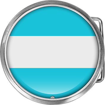 Argentina Flag Belt Buckle