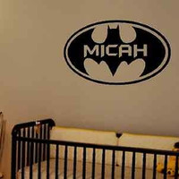 Batman Wall Decal With Customized Name Vinyl Wall Lettering Personalized Boy Room