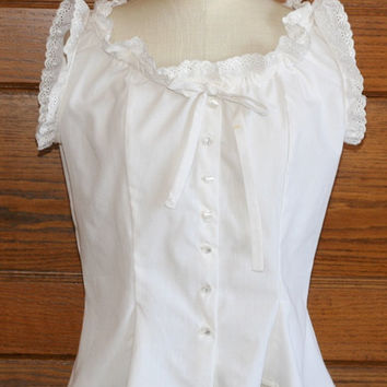 Sleevless Peasant style Blouse