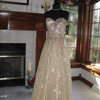 Sherri Hill 8437 Nude Silver Pageant Gala Gown Dress
