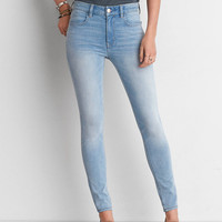 AEO Denim X4 Hi-Rise Jegging, Powder Blue