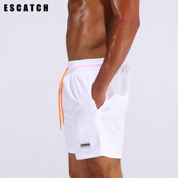 ESCATCH Men's Beach Pants, Fast Dry Pants, Men'sFour - Point Shorts, Breathable Waterproof Sports Swimming Shorts