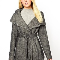 New Look Belted Snood Coat