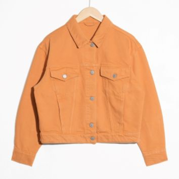 & Other Stories | Cropped Denim Jacket | Yellow