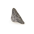 Tribal-Inspired Etched Statement Ring