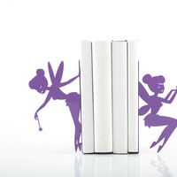 Bookends - Fairy- laser cut from metal strong enough to hold books