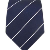 PENCIL PINSTRIPE - Classic Navy